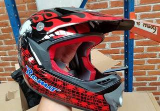 Casco Cross Rojo