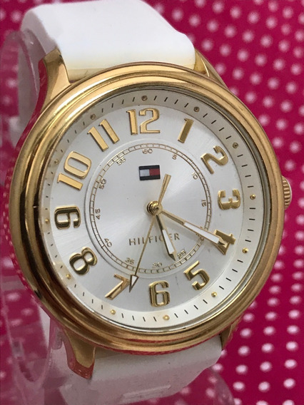 Hilfiger Banhado Ouro 40mm Luxo Zerado, Com Selo Do Ipi
