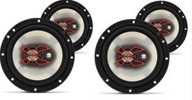 Kit C/ 04 Auto Falantes Bravox Triaxial B3x 200 Watts Rms