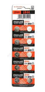 Blister 10 Pilas Maxell Lr44 A76 1.5v P/relojes, Calculadora
