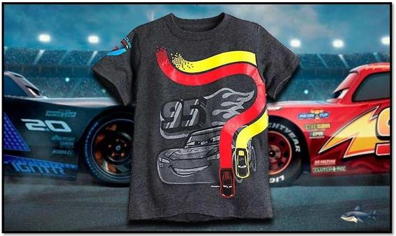 Promo !!! Camiseta Cars Infante Talla( 4 )