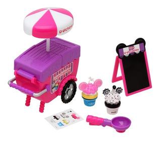 D-lectables Carrito Cupcake Mickey Minnie Con Accesorios