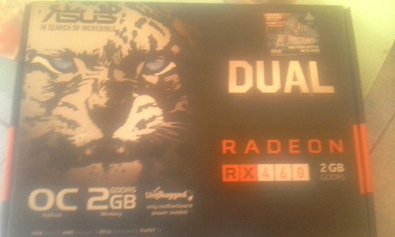 Placa De Video Dual Asus Radeon Rx460 2gb Gddr5