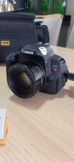 Câmera Fotográfica Canon T5i + Lentes + Kit