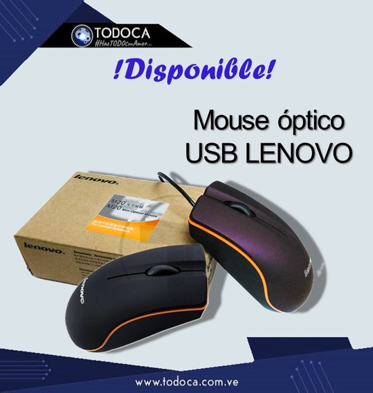 Mouse Usb Optico Alambrico Marca Lenovo Tdca