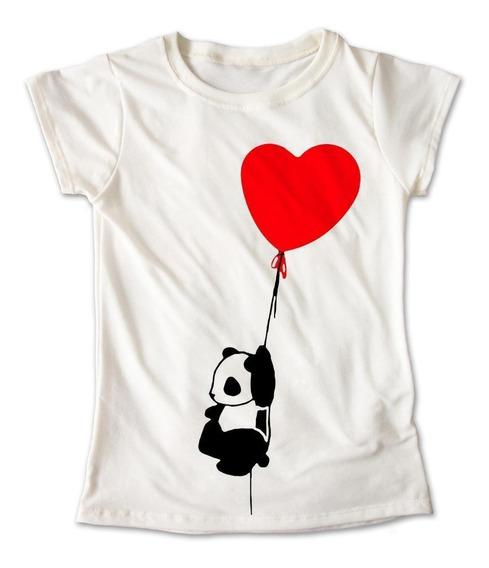 Blusa Panda Corazon Colores Playera Globos Animal 080