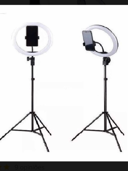 Ring Light Iluminador 26cm Usb Led + Tripe C. Suporte P Cel