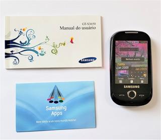 Celular Samsung S3650 Corby Rosa, Completo, Modelo Sem Wifi