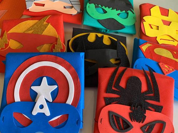 Capas Y Antifaz Superhéroes Souvenirs