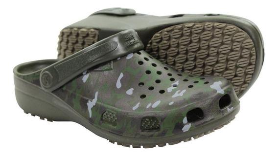 Sapato Para Pescador Antiderrapante Crocs Camuflado