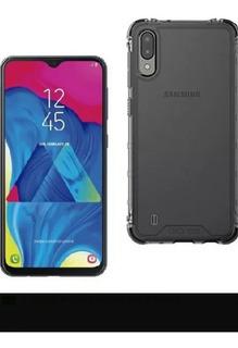Samsung M10+ Vidrio Templado + Funda Todo Colocado