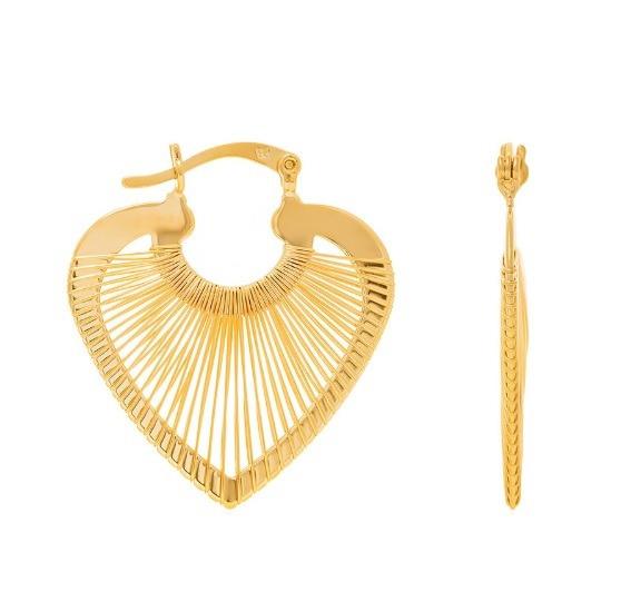 Brinco Rommanel Folheado Ouro 18k Pequena Argola 523025