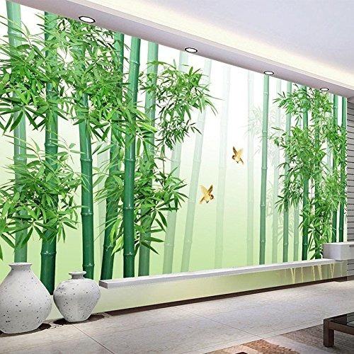 Bzdhwwh Estilo Chino Moderno Bosque Verde Bambú Foto Mural P