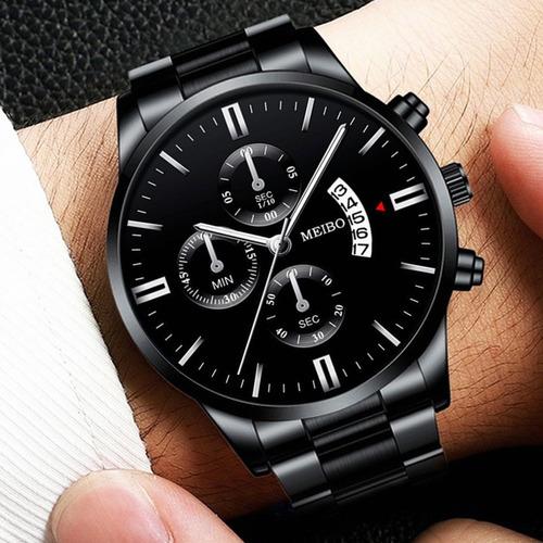 Nuevo Reloj Original Con Fecha Reloj Correa De Metal Hombre