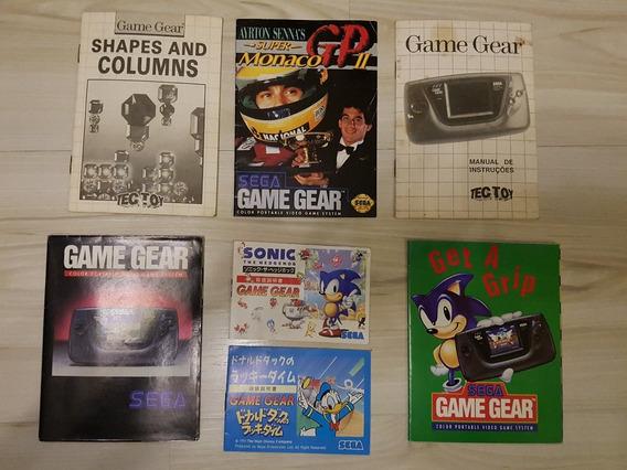 Manual E Poster De Vídeo Game Anos 90 Sega Genesis Game Gear