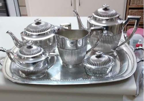 Imagem 1 de 1 de Jogo De Chá Completo Em Prata Marca: Eberle