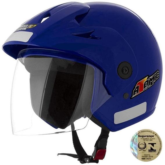Capacete De Segurança Para Moto Forte Azul Pro Tork 56 Bom