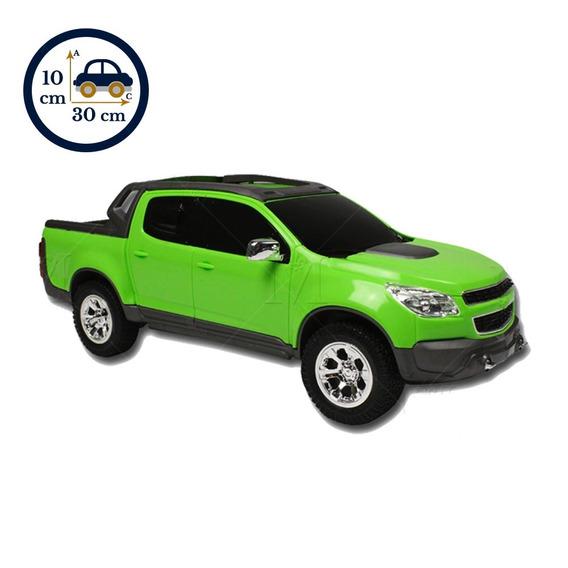 Carrinho Miniatura S10 Rally 1145 Rodas Cromada Verde