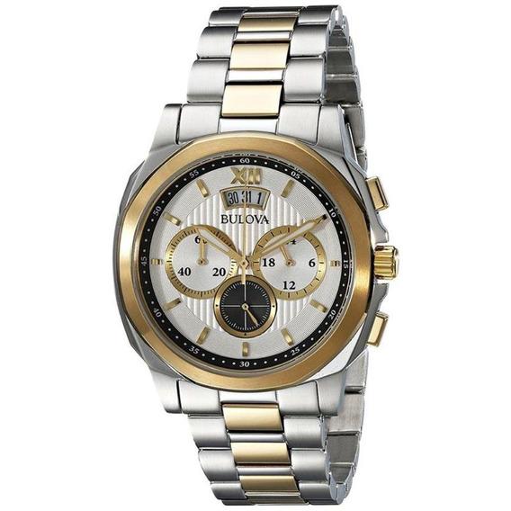 Relógio Masculino Bulova Analógico Wb30865s - Prata/dourado