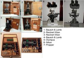 Lote Contendo 7 Microscópios 1 Binocular E 5 Monoculares