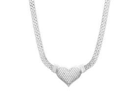 Colar Prata Esterlina 925 + Diamante (1/2 Ct)