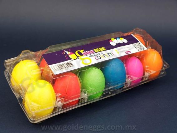 Docenera De Huevos Con Confeti Con Envío - Golden Eggs