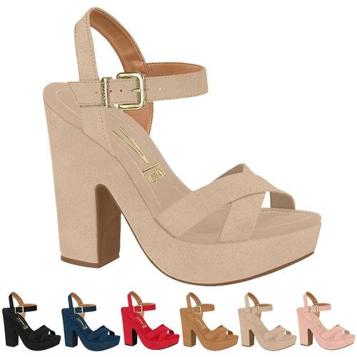 cbd382abd8 Sandália Total Confort Bege- Salto - Sapatos no Mercado Livre Brasil