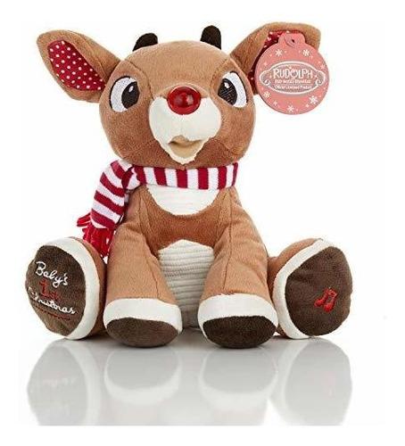 La Primera Felpa De Navidad Del Bebé Rudolph Con Música Y
