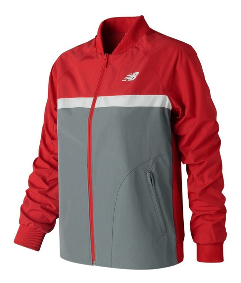 New Balance Campera Lifestyle Mujer Athletics 78 Rojo - Gris