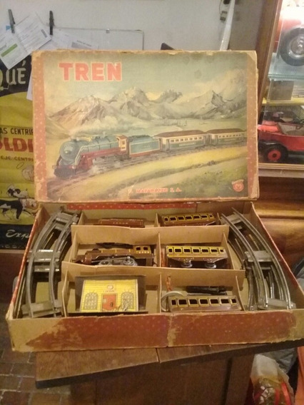 Matarazzo Juguete Antiguo Tren Con Su Caja