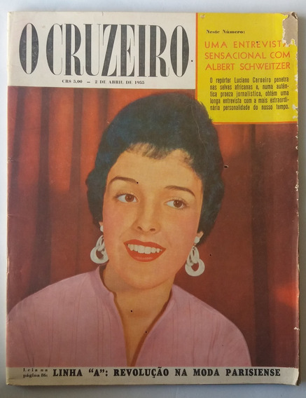 Revista O Cruzeiro 1955 1º Aniversario Da Rádio Marajoara Be