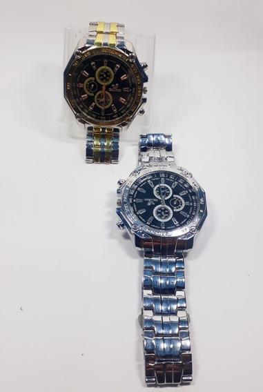 Relógio Pulso Masculino, Pulseira De Aço,compre 1 Leve 2