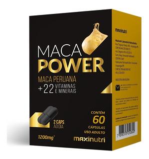 Maca Power (+vit E Minerais) 60 Caps 1200mg - Maxinutri