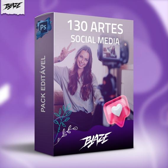 Pack 130 Artes Social Media Editável Photoshop + Brinde
