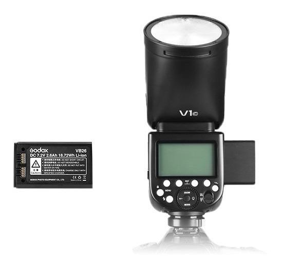 Flash Godox V1 Para Nikon C/ Bateria Ttl Hss