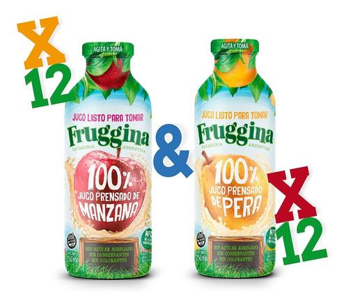 Jugo Listo Para Tomar Fruggina Manzana Y Pera Pack X 24