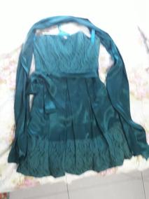 Vestido Verde Curto Festa Com Renda
