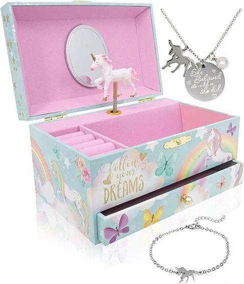 Caja Joyero Musical Unicornio