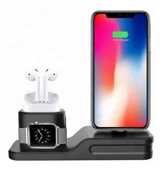 Base Para iPhone AirPods Apple Watch Dock Estación Carga +