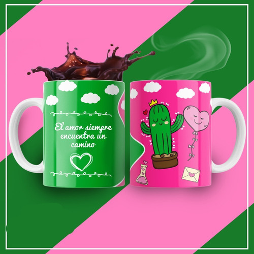 Plantillas Para Tazas Amor Enamorados Modelo 5