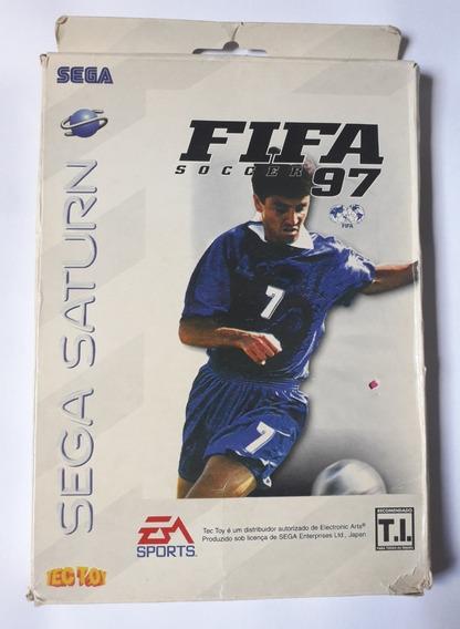 Fifa Soccer 97 Sega Saturn + Manual + Poster Nights + Caixa
