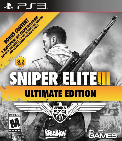 Sniper Elite 3 Ultimate + Dlcs - Portugues - Jogos Ps3