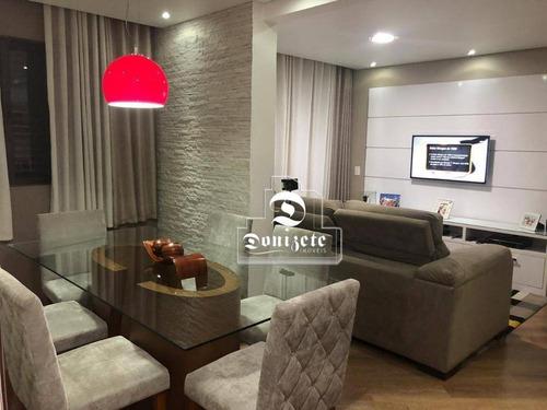 Apartamento Com 3 Dormitórios À Venda, 78 M² Por R$ 350.000,00 - Parque Das Nações - Santo André/sp - Ap16593