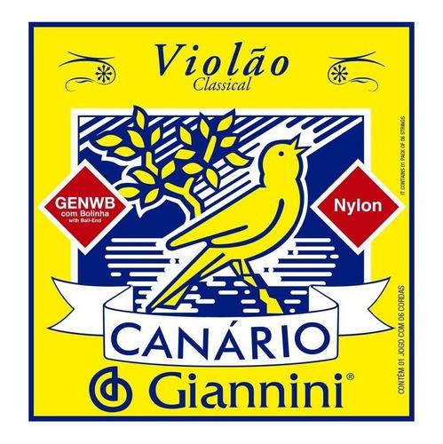 Imagem 1 de 1 de Encordoamento De Violão Canário - Giannini - Nylon C/bolinha