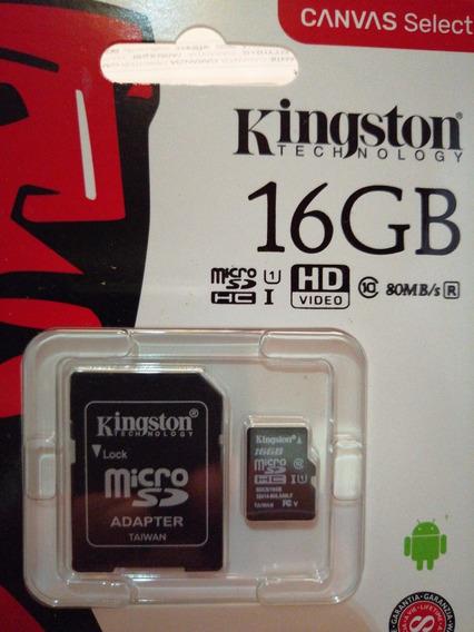 Cartão De Memória 16gb+kingston+promocao**