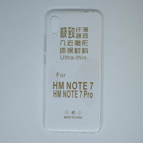 Imagen 1 de 2 de Funda Tpu Transparente Para Xiaomi Redmi Note 7 Global O Pro