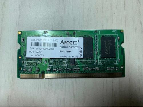 Memória Ddr2 1gb Apogee 800mhz Pc2 6400
