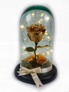 Rosa Eterna Luz Led Colores ( Rehidratada Mini)