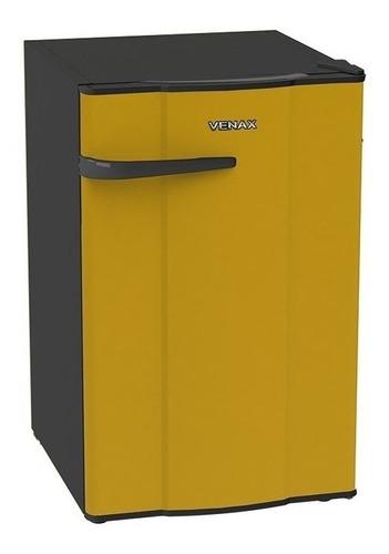 Geladeira/refrigerador 82 Litros 1 Portas Amarelo - Venax - 110v - Ngv10