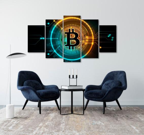 Quadros Decoração Investidor Trader Bitcoin - Mdf 6mm